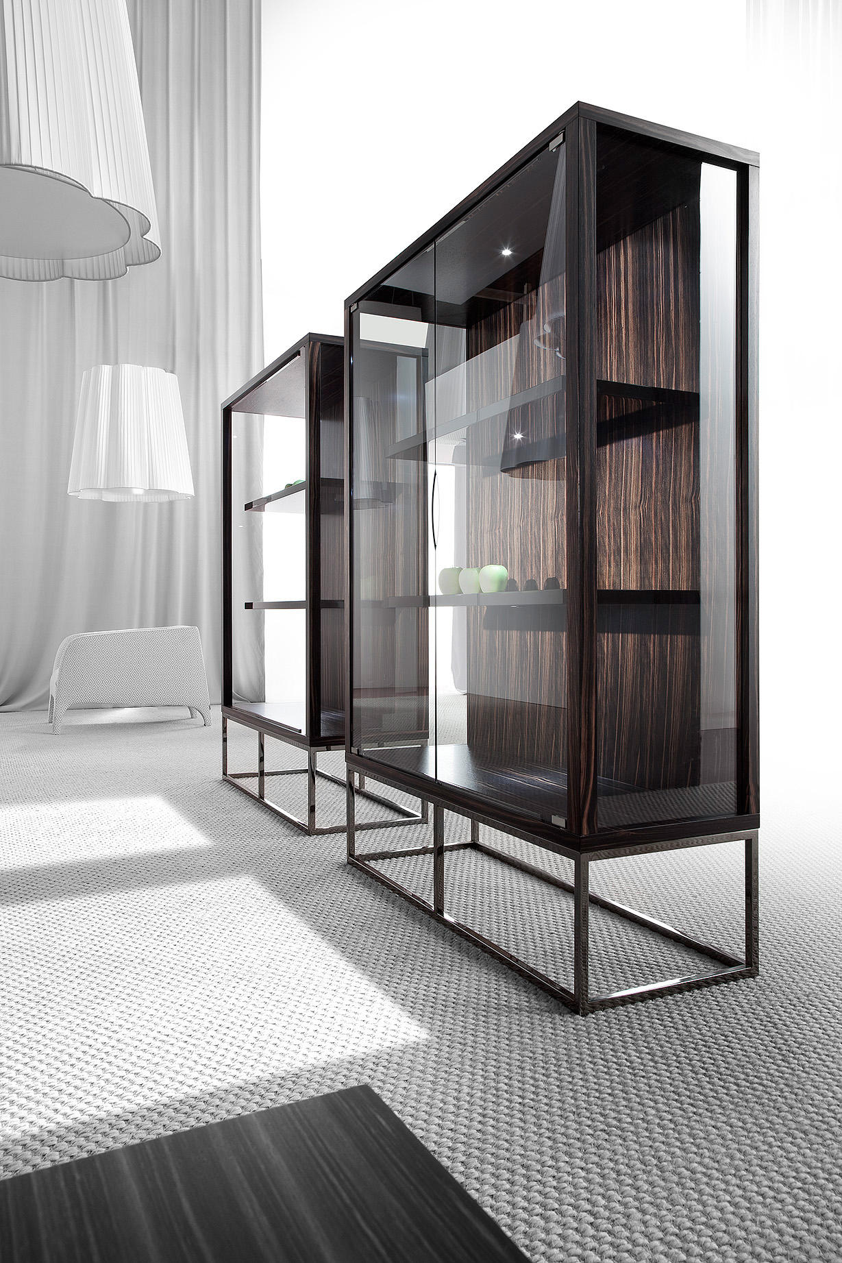 Modern Display Cabinet Pensami Glass Cabinet Display Cabinets From Erba Italia