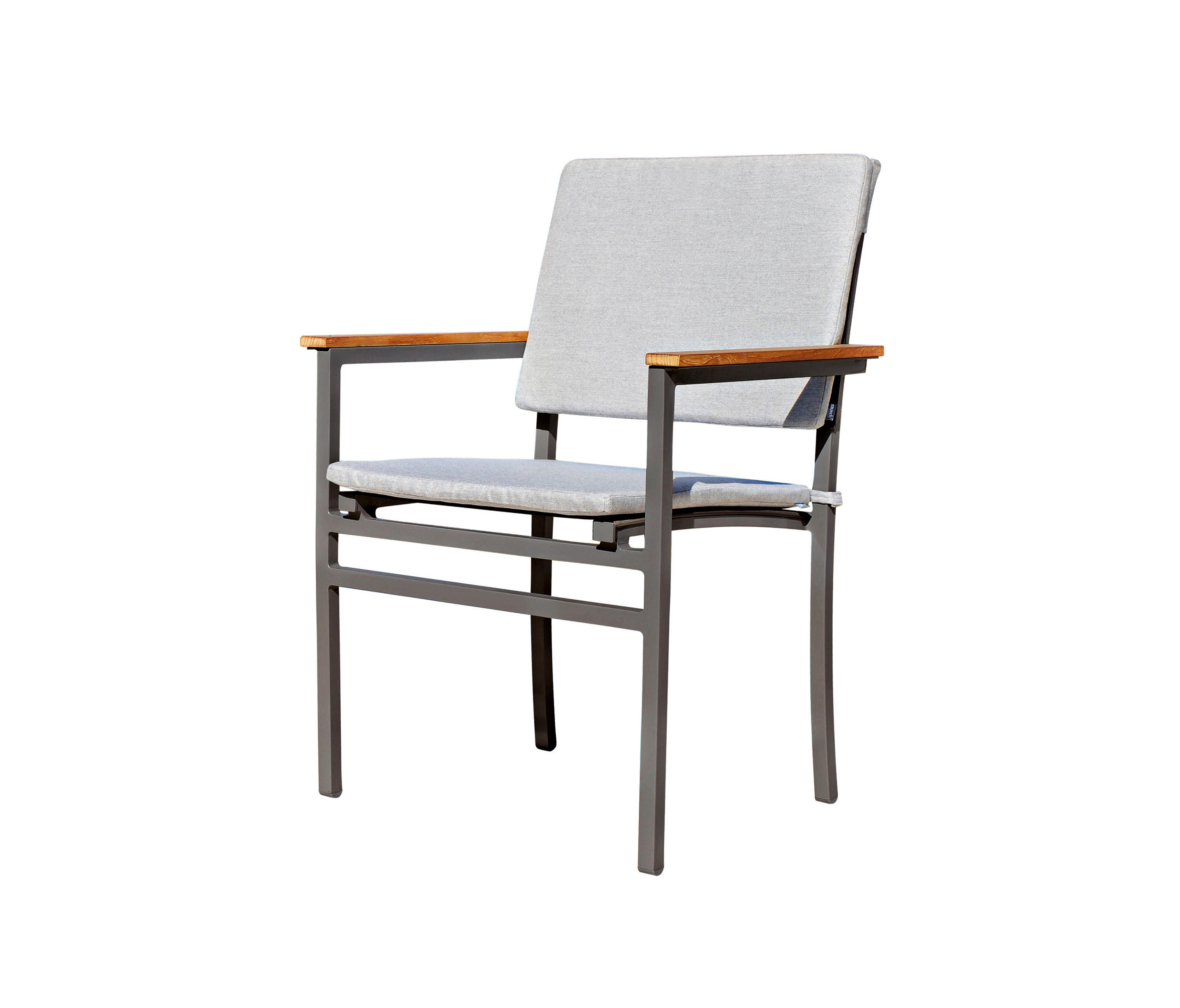 Rausch Classics Long Beach Stacking Chair With Seat And Back Cushions