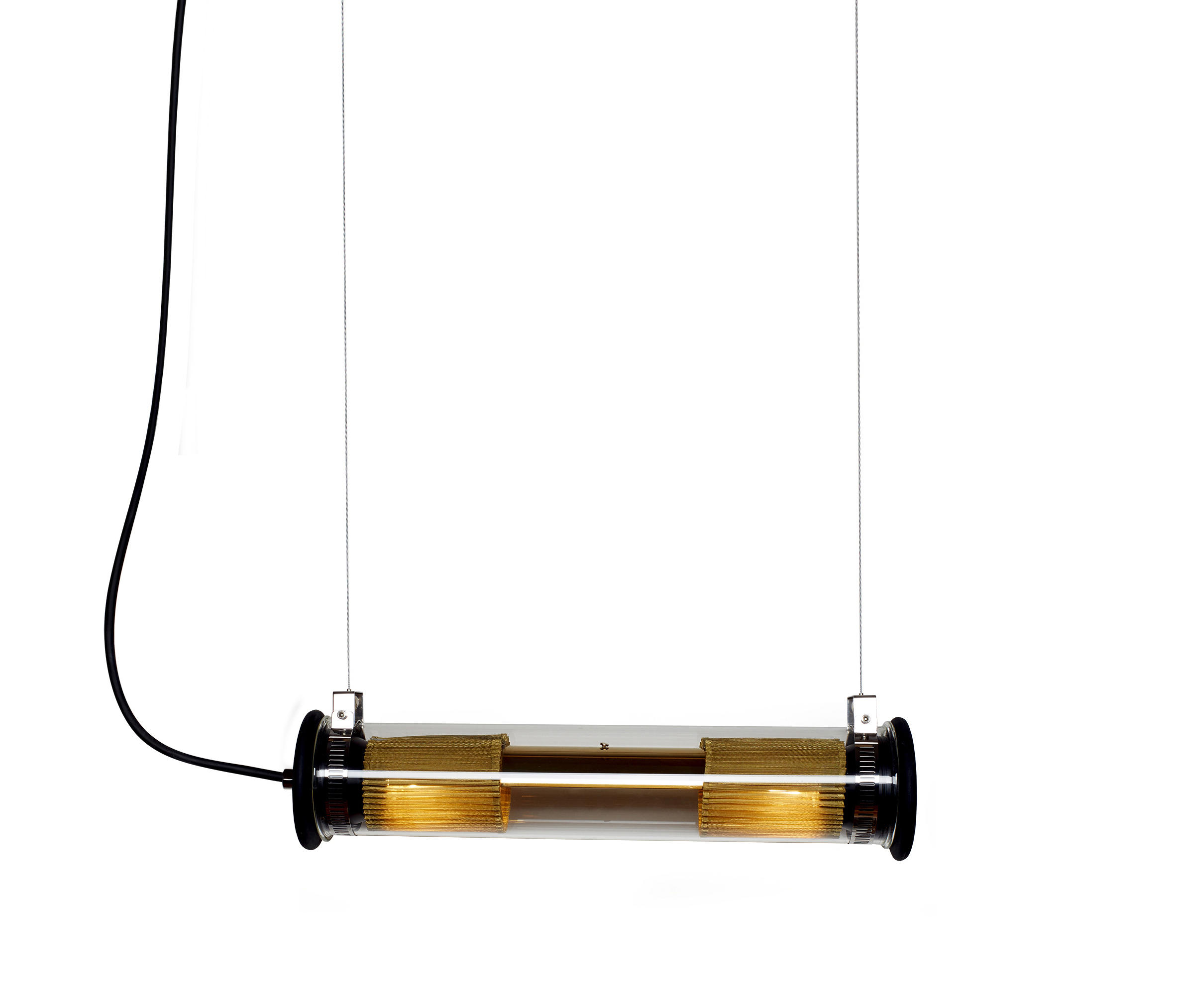 Gold Tube In The Tube 100 500 Gold Suspension General Lighting