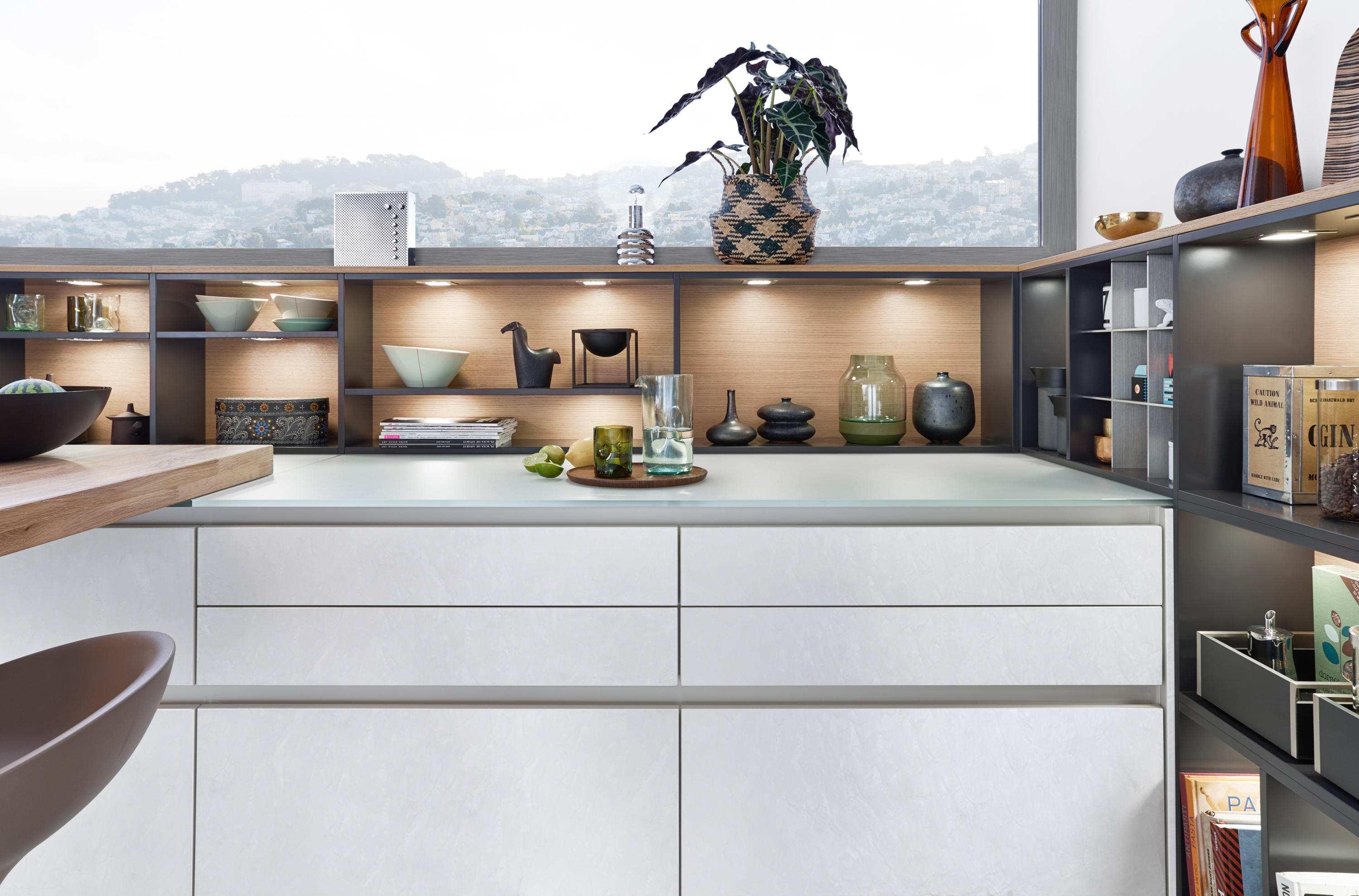Leicht Küchen München Classic Fs Topos Concrete C Fitted Kitchens From