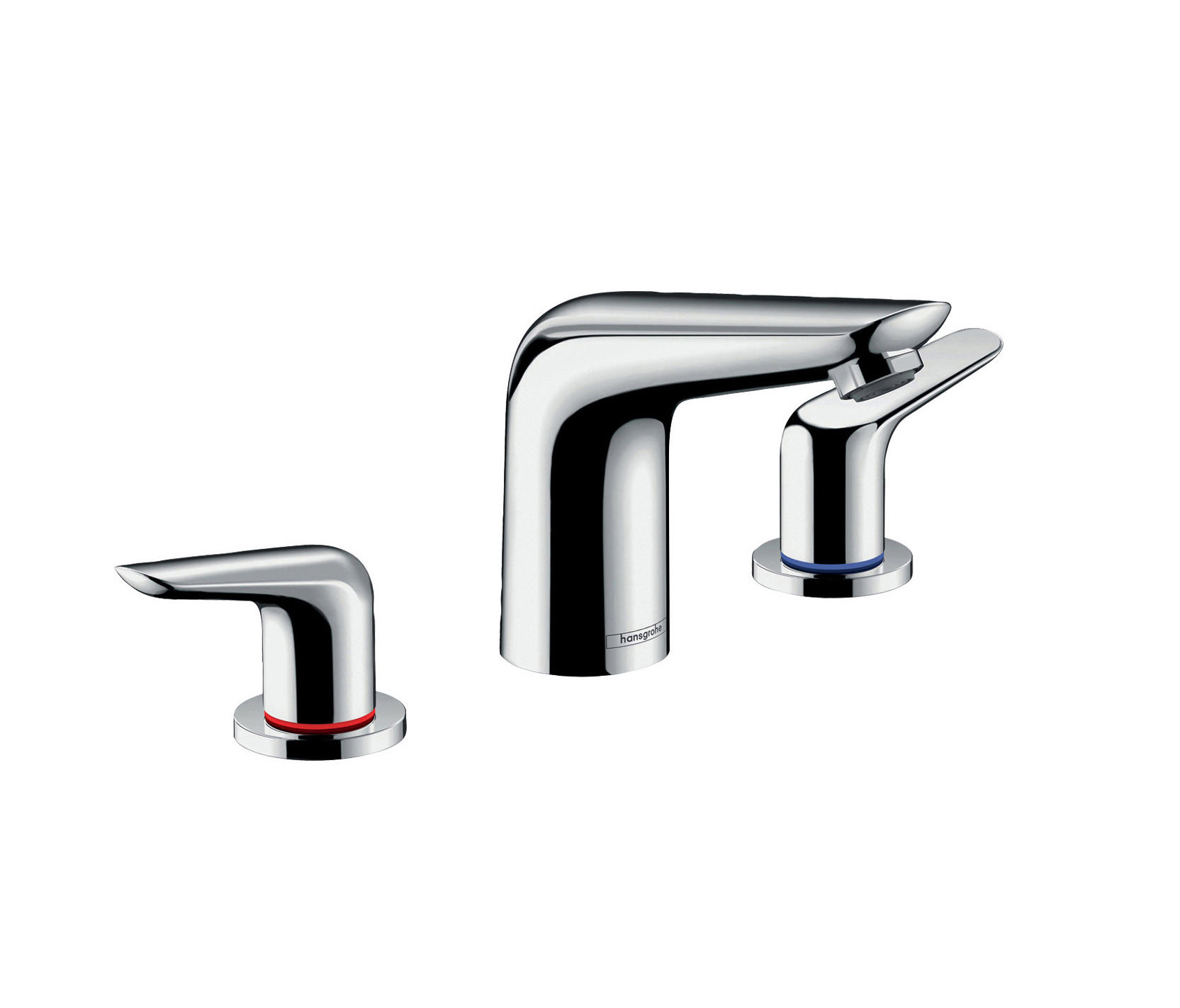 Hans Grohe Hansgrohe Novus 3 Hole Basin Mixer 100 With Pop Up Waste Set