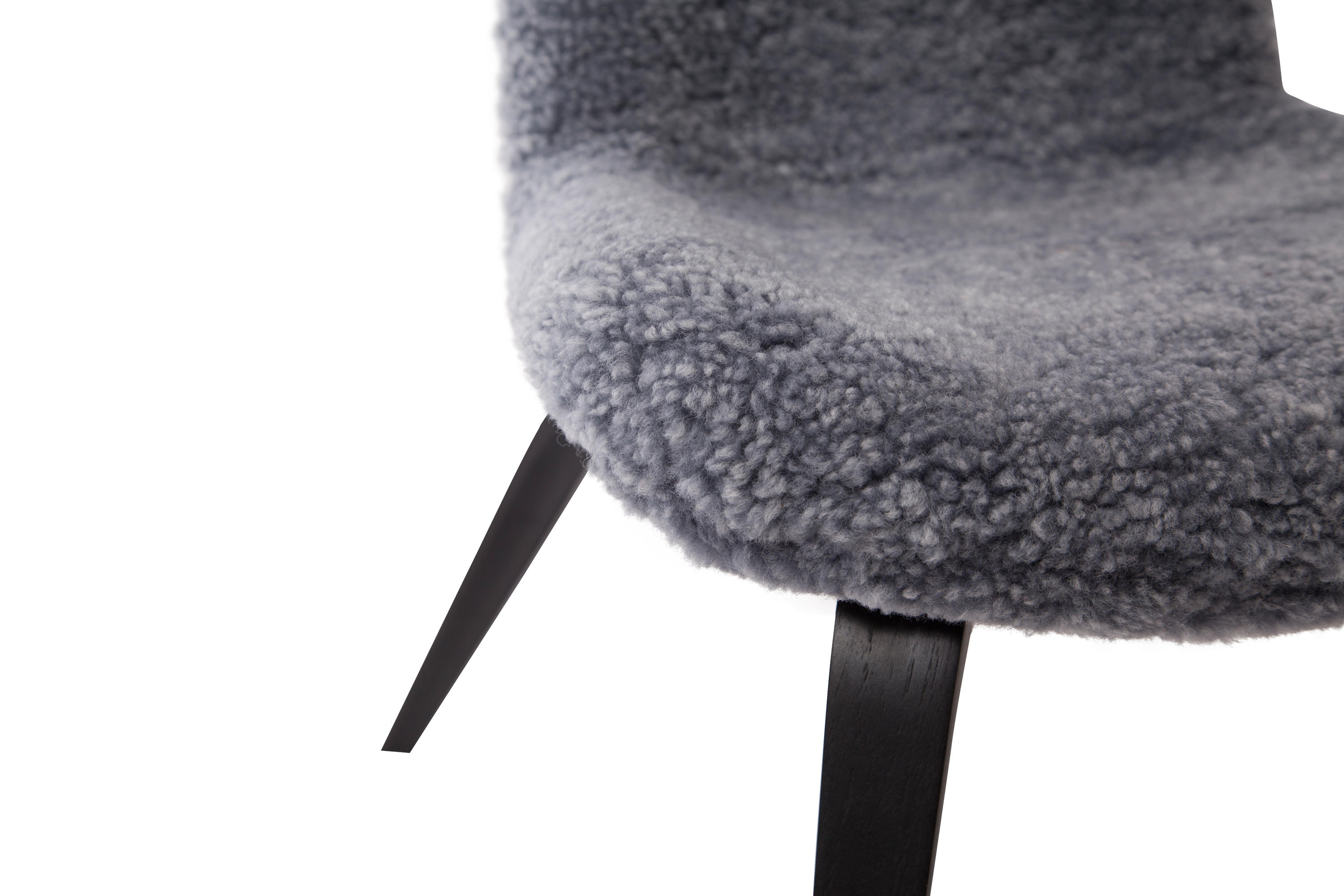 Norr11 Lounge Sessel Goose Lounge Chair Black Sheepskin Graphite Sessel Von Norr11