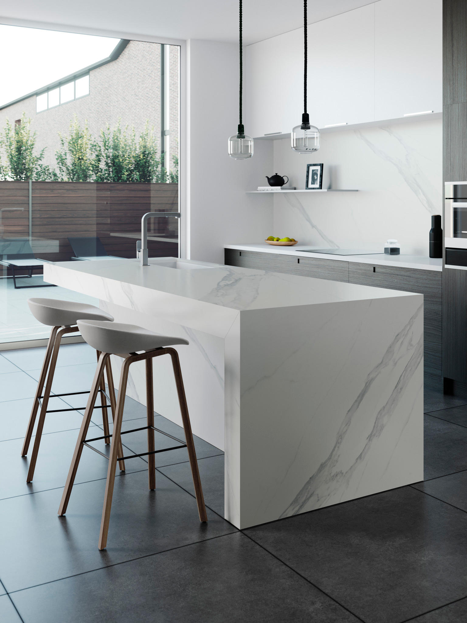 Kücheninsel Country Dekton Surface For Dekton Showroom Kitchen Compact Kitchens