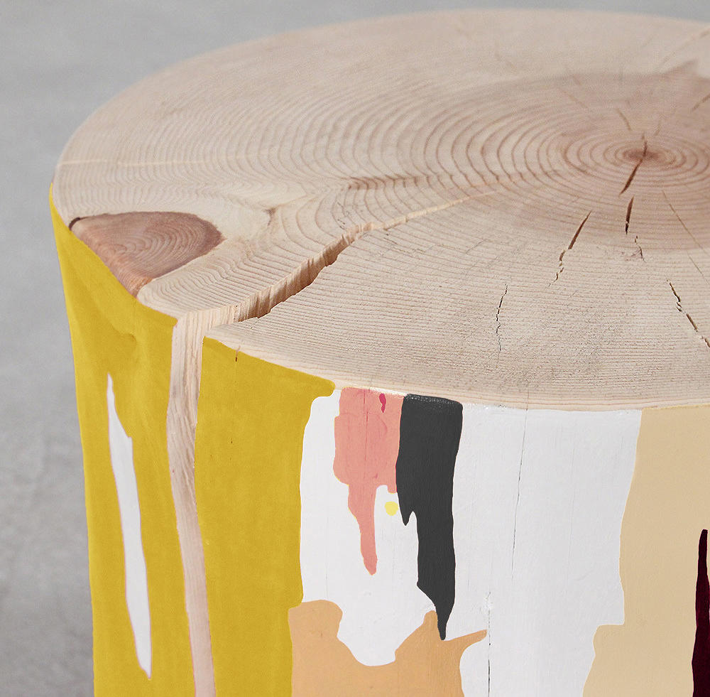 Tachi Hand Painted Log Table Architonic