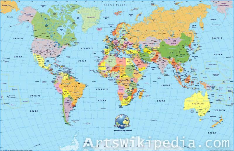free world map print