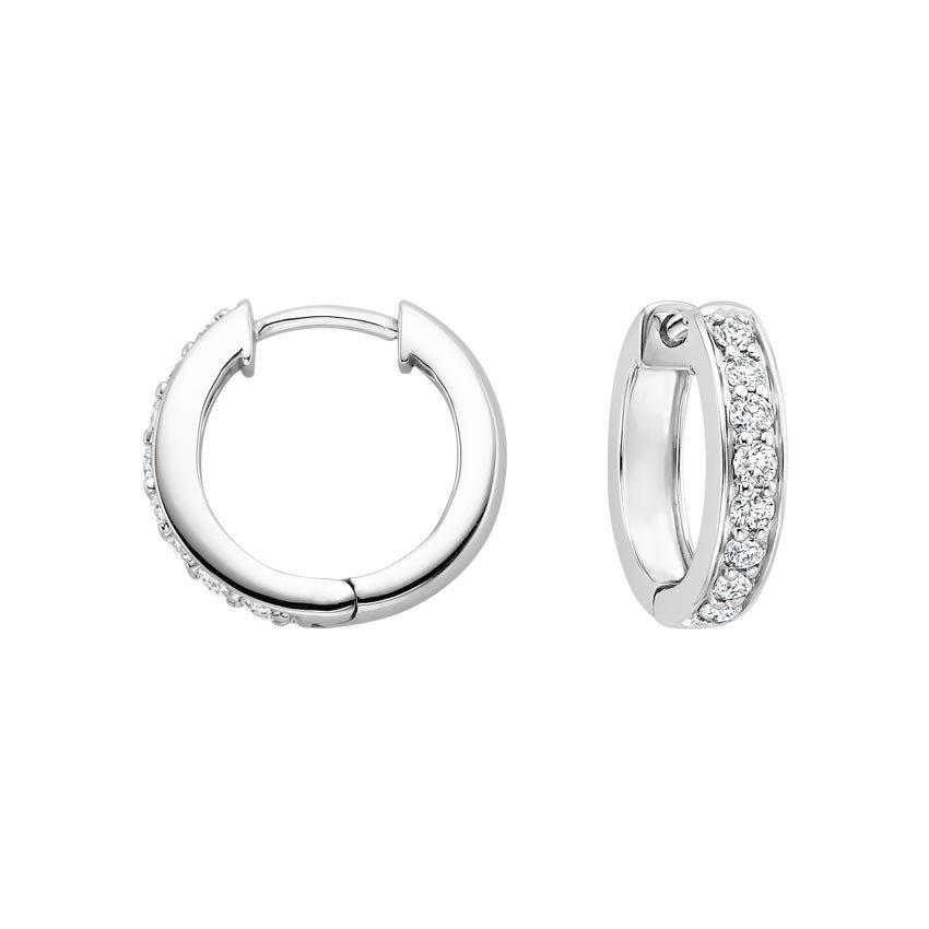 Luxe Diamond Huggie Earrings (1/2 ct. tw.) in 18K White Gold