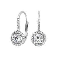 Luxe Halo Enchant Drop Earrings (1 1/4 ct. tw.) in 18K ...