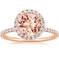 Morganite Waverly Ring in 14K Rose Gold | Brilliant Earth