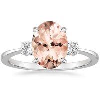 Morganite Selene Ring in 18K White Gold | Brilliant Earth