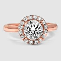 Rose Gold Halo Engagement Rings | Brilliant Earth Ring ...