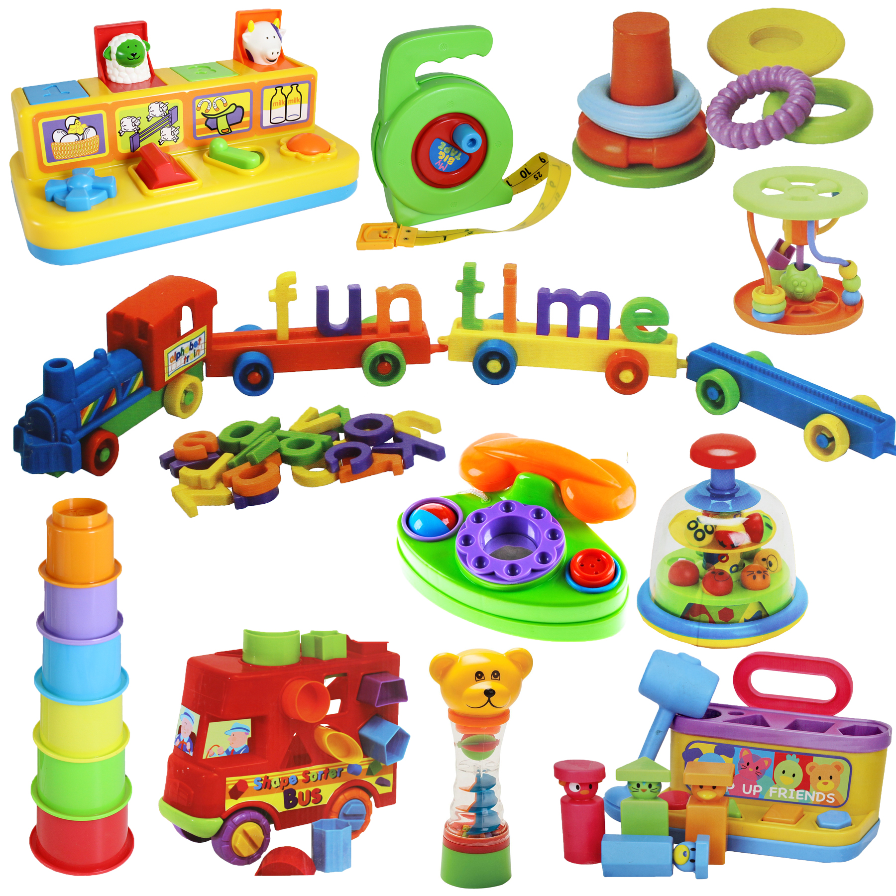 Babies Interactive Toys Details About Baby Colourful Interactive Toys Shape Sorters Cups Links From Birth 36 Mths