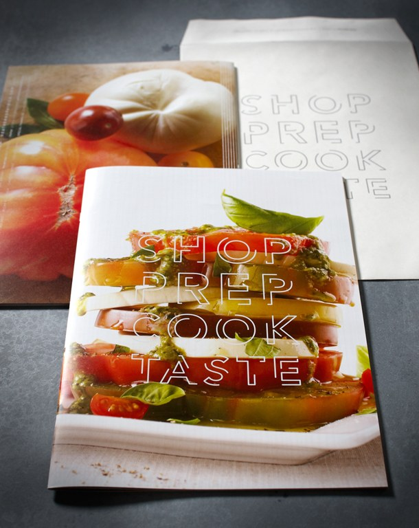 Shop Prep Cook Taste promotional brochure Communication Arts