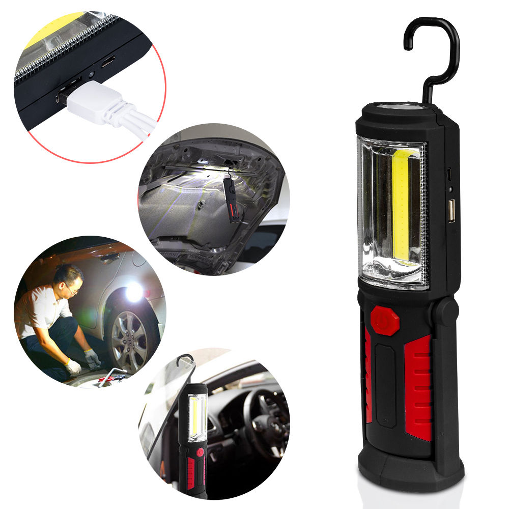 Led Lampe Main Main Torche Cob Led Rechargeable Lampe D'inspection