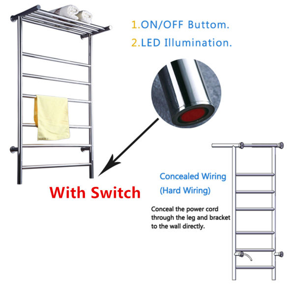 Shop for T Shaped Stainless Steel 304 Heated Towel Rail Electric