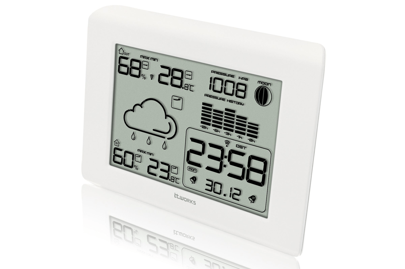 Thermometre Electronique Interieur Exterieur Station Météo It Works Sunw2 1260065 Darty