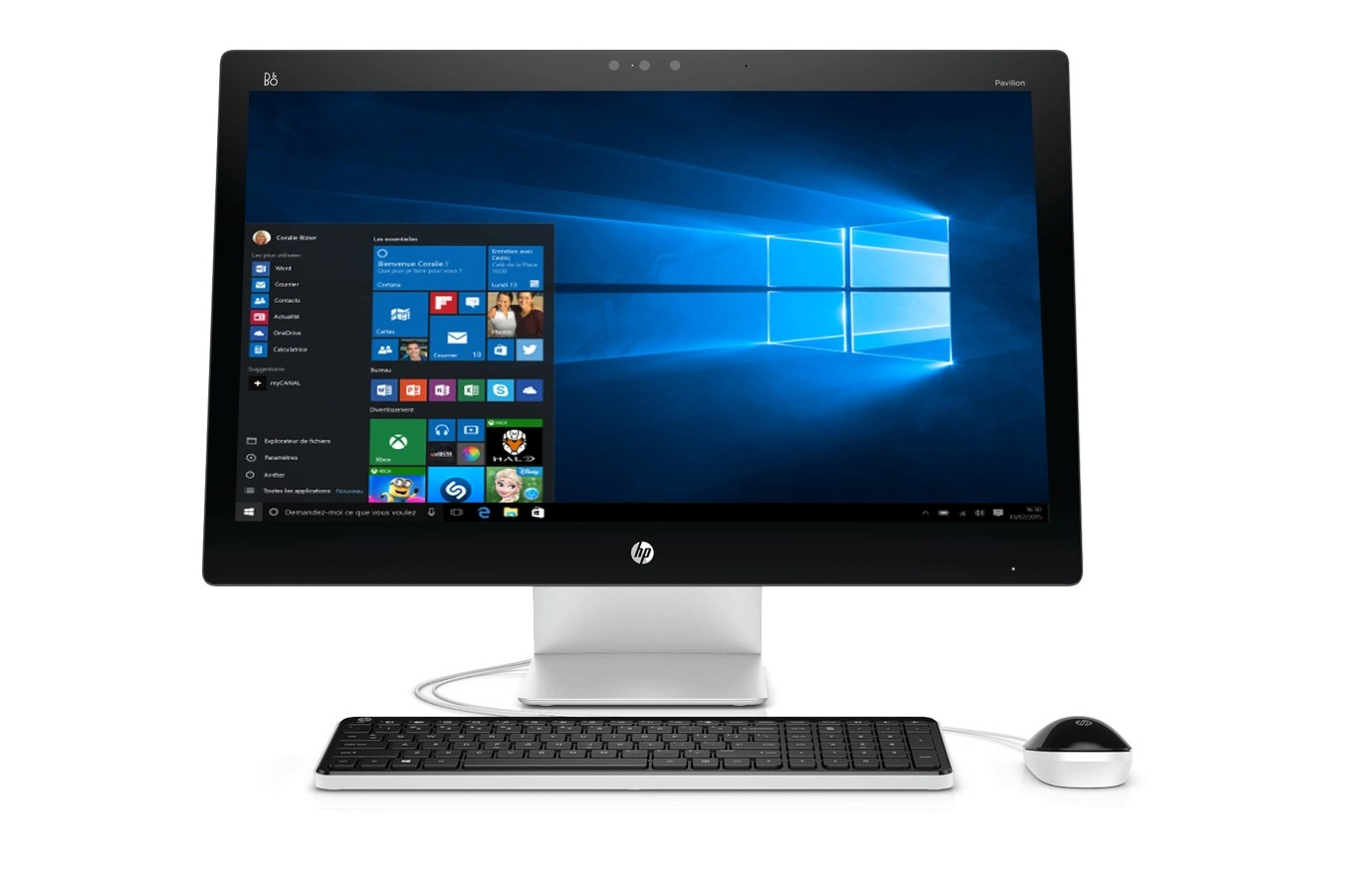 Darty Ordinateur Bureau Pc De Bureau Hp Pavilion 27 N205nf 4217454 Darty