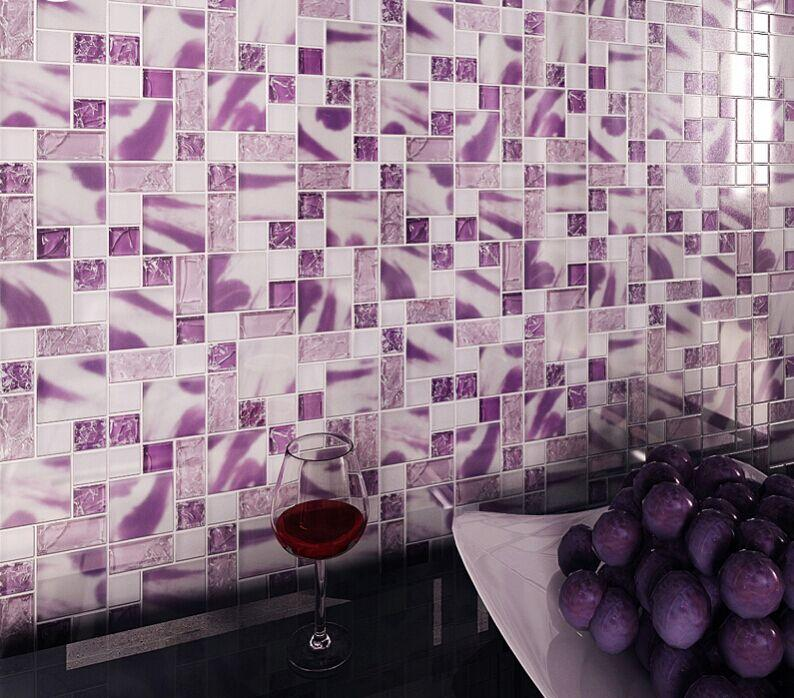 frosted glass mosaic tile backsplash kitchen crackle crystal glass mosaic backsplashes pictures ideas tips hgtv hgtv
