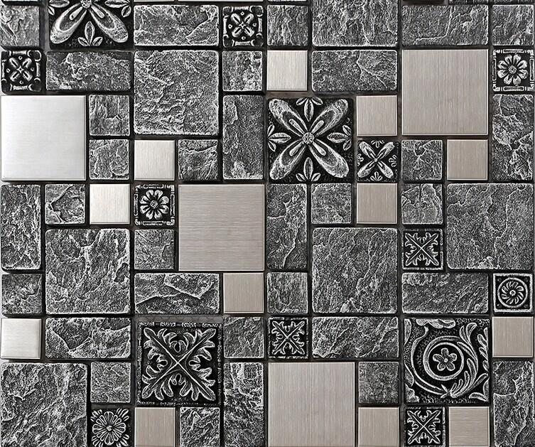 steel backsplash kitchen ceramic wall tiles silver metal mosaic tile turn power kitchen remove outlet covers