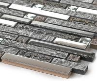stainless steel backsplash diamond glass ceramic tiles ...