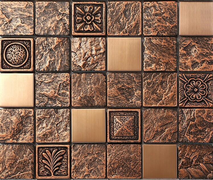 steel backsplash kitchen ceramic wall tiles gold metal mosaic tile silver metal mosaic stainless steel kitchen wall tile backsplash