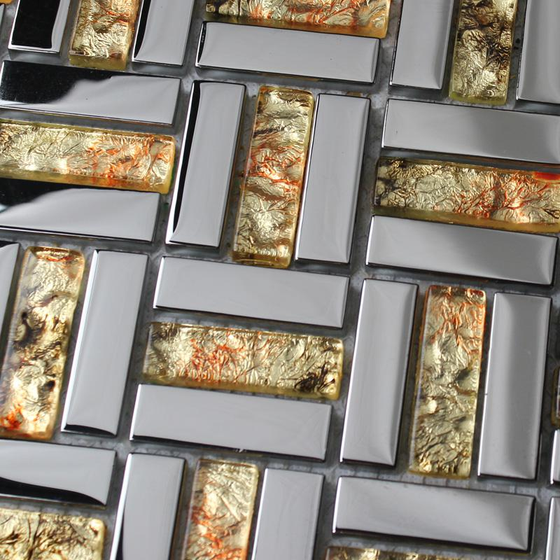 Mirror Plated Tile Backsplash Mirrored Glass Mosaic Tiles