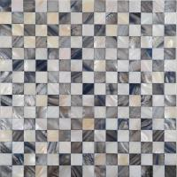 shell mosaic tiles black & white mother of pearl tile ...