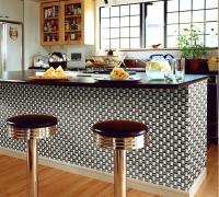 metallic mosaic tile arch tiles bathroom mirrored wall ...