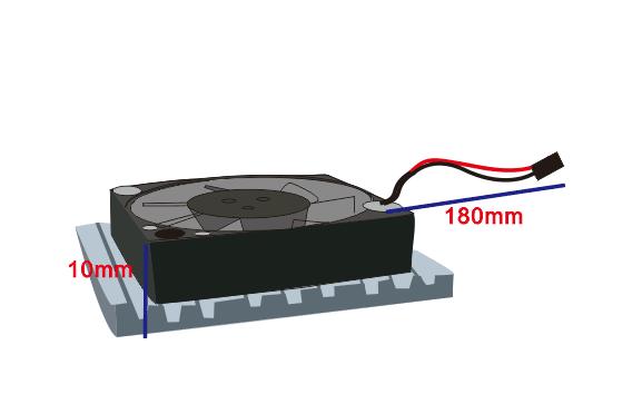 Aluminum Heatsink Cooling Fan For Lattepanda Thingbits