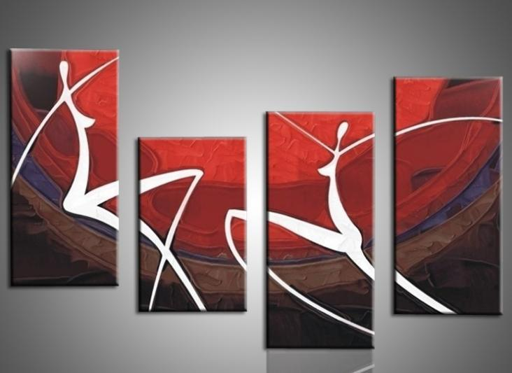 3d Wallpaper For Bedroom Wall India Hand Painted Oil Painting Elegant Modern Canvas Art For