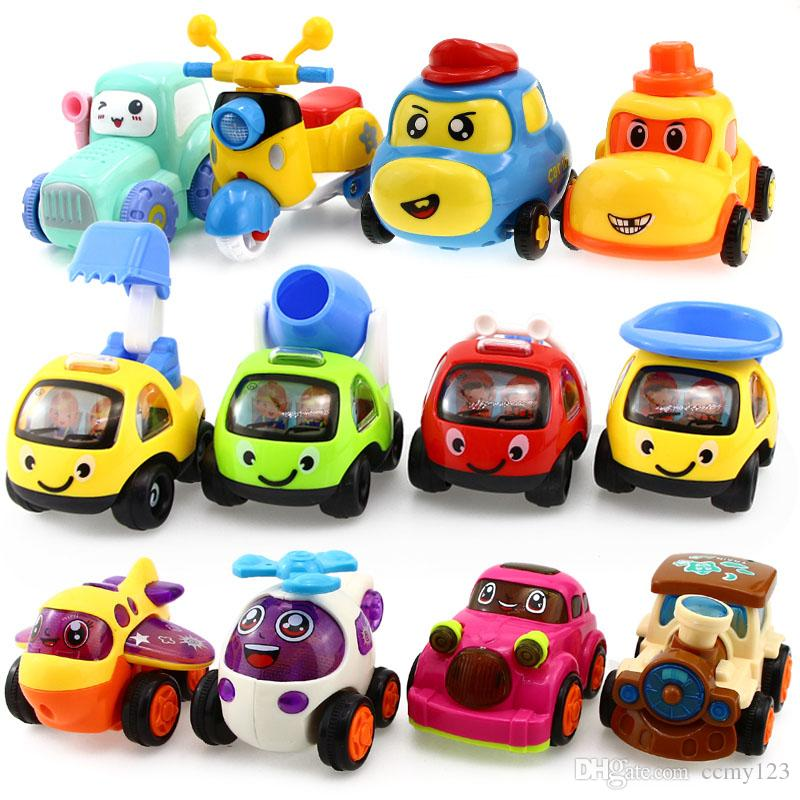 Diecast Model Baby Toy Car Pull Back Car Inertial Engineering