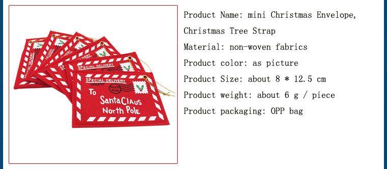 Best Santa Envelope Christmas Hanging Ornament Santa Envelope