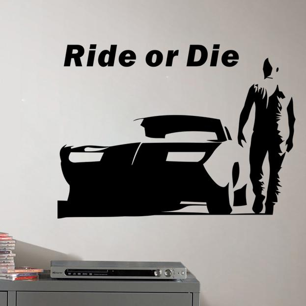 Paul Walker Quote Wallpapers The Fast And Furious Wall Stickers Decorative Wall Decal