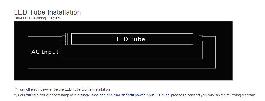 Input Led Tube Please Reconnect Your Wire As The Following Diagram