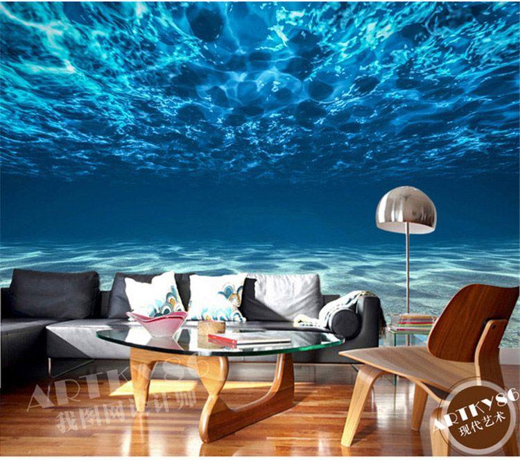3d Wallpaper For Bedroom Walls Charming Deep Sea Photo Wallpaper Custom Ocean Scenery