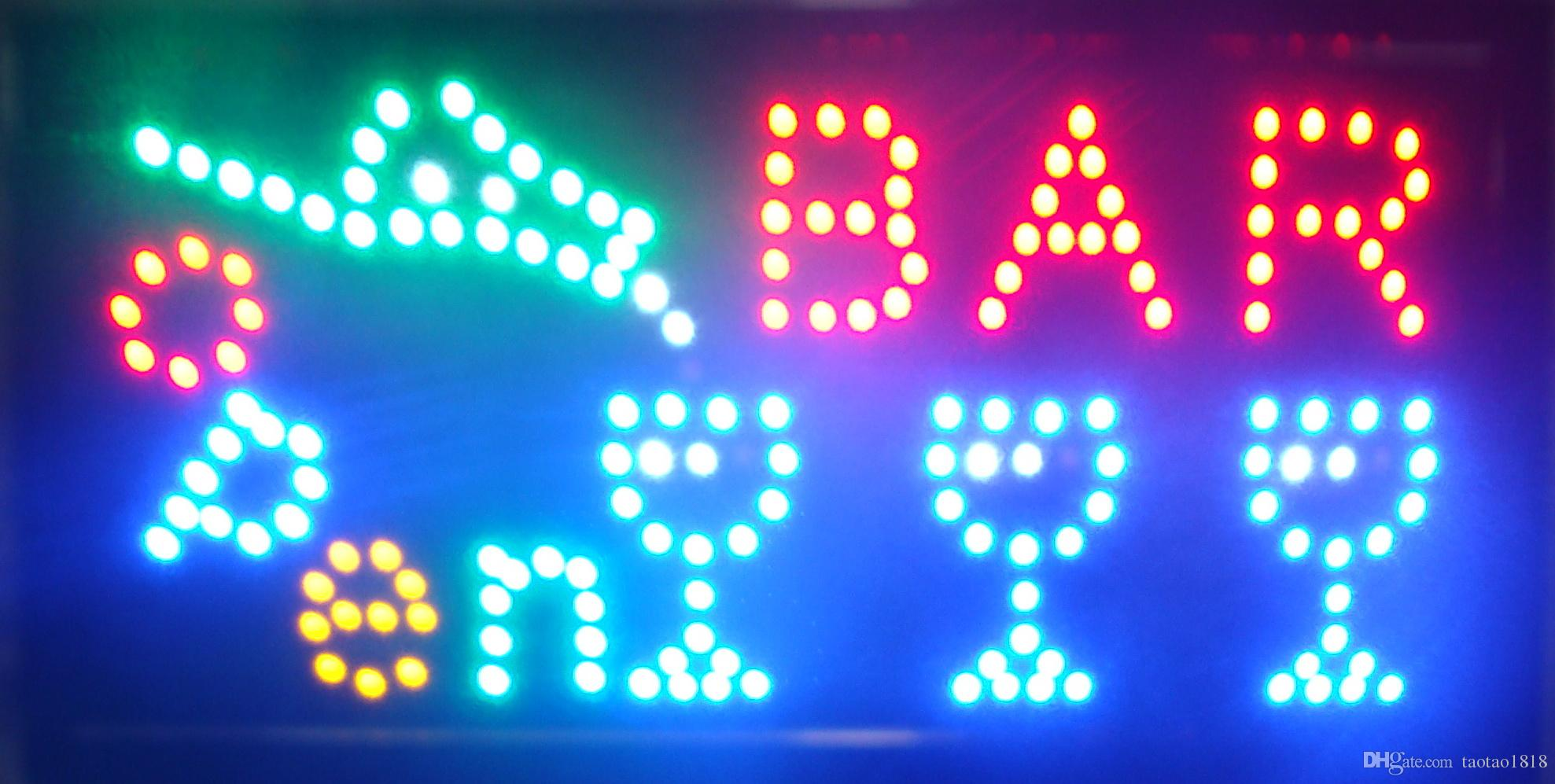 Led Online Shop Super Bright Quality Bar Pub Wine Bar Led Neon Shop Display Hanging Sign 48cm X 25cm