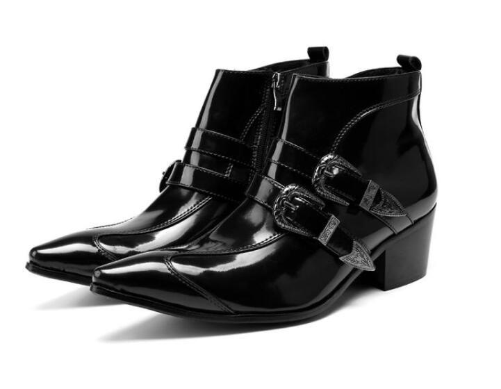 Autumn Winter England Retro Pointed Shoes Men Fashion