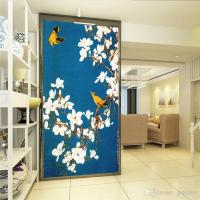 Vintage Wall Mural Hand Painted Flowers And Birds Photo ...