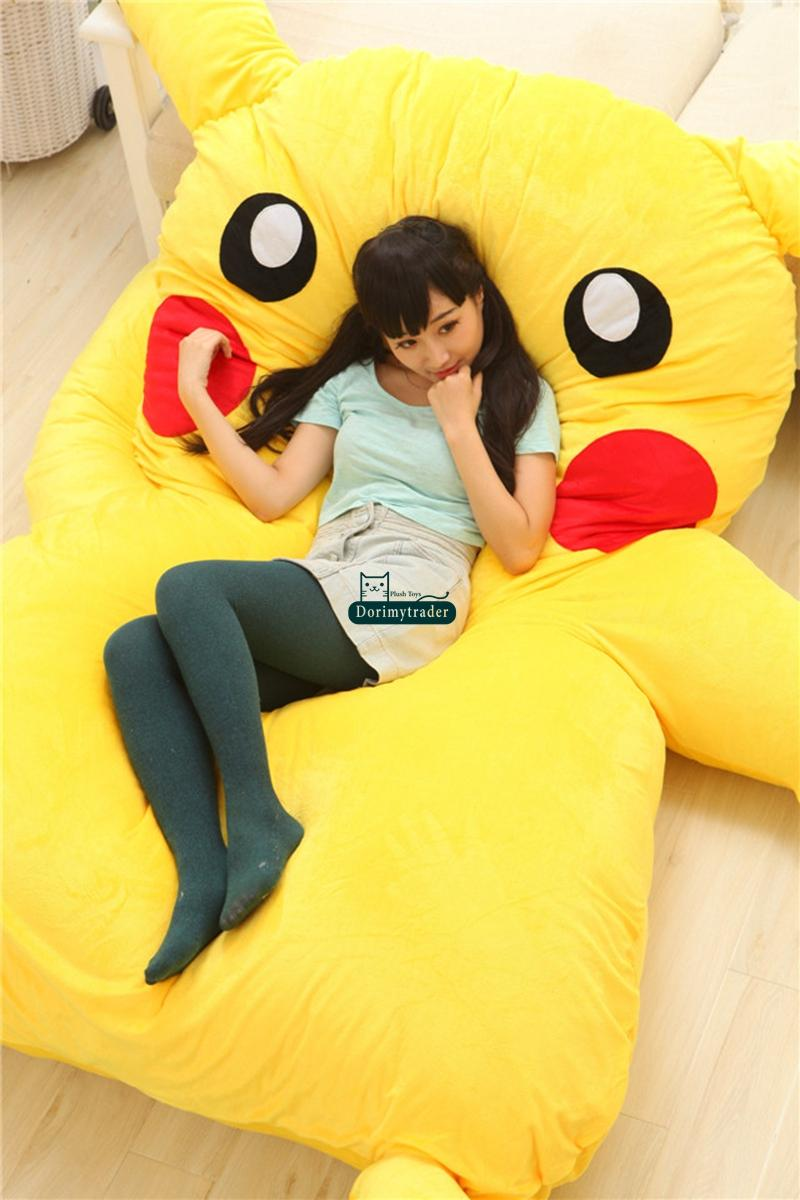 Sofa Bed Giant Malaysia Dorimytrader 220cm X 150cm Japan Anime Pikachu Soft Plush Giant Bed Carpet Tatami Mattress Sofa Nice Birthday Gift Free Shipping Dy60331