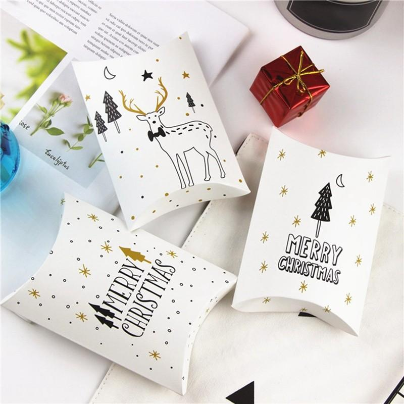 2019 Merry Christmas Candy Gift Boxes DeerXmas Tree Guests