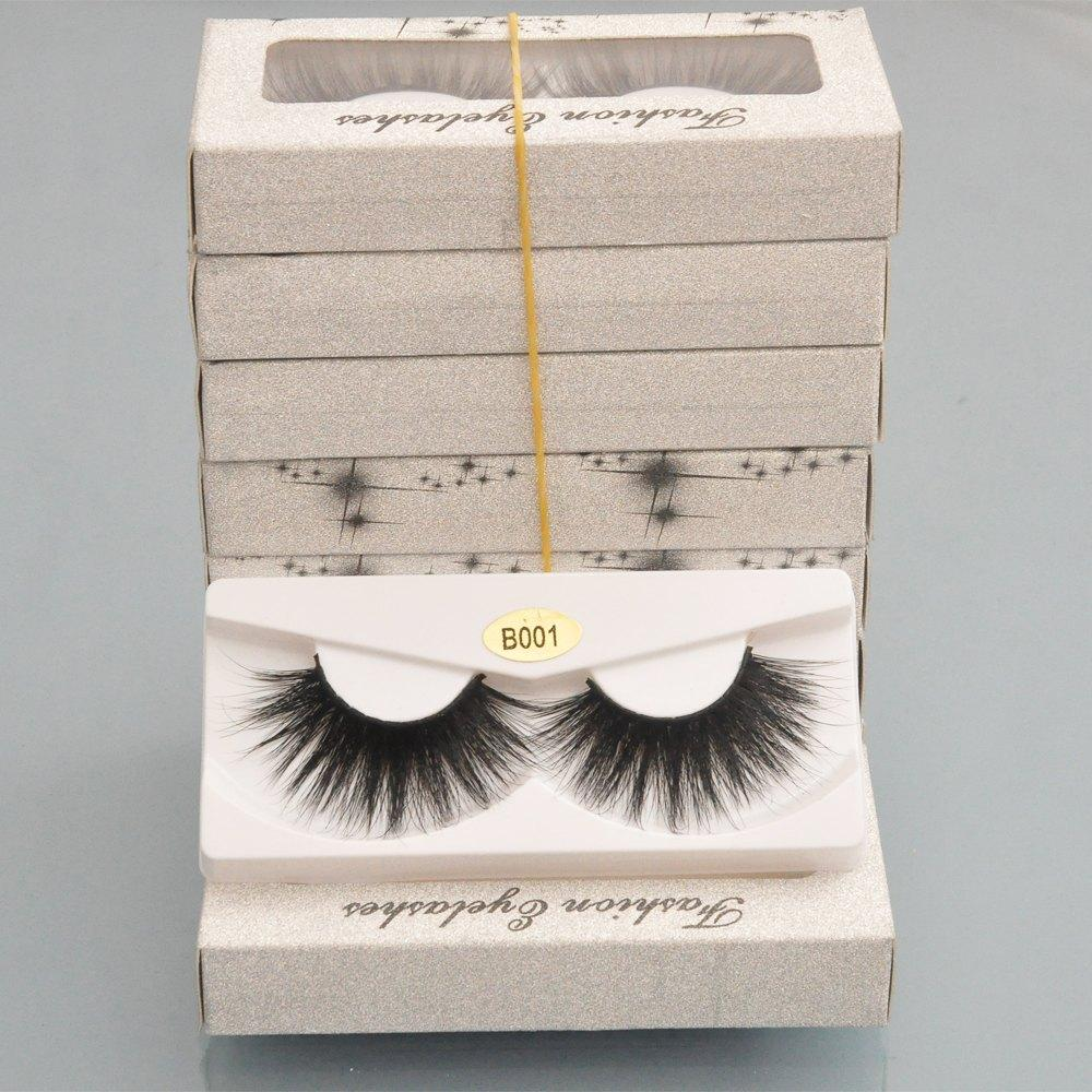 Wholesale Beauty Vendors Wholesale False Eyelashes 25mm Mink Eyelashes 3d Lashes Faux Cils Natural Long Fake Full Strip With Paper Eyelash Packaging Box Bulk Vendors Feather