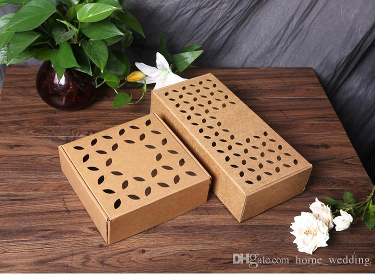 25248cm Hollow Out Large Square Kraft Paper Gift Box