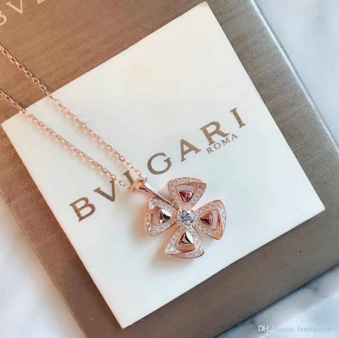 Italy Design Jewelry Bv 19ss Designer Italy Luxury Brand Diamond Necklace Rose Gold Necklace Pendant Necklaces Long Chain Choker No Box
