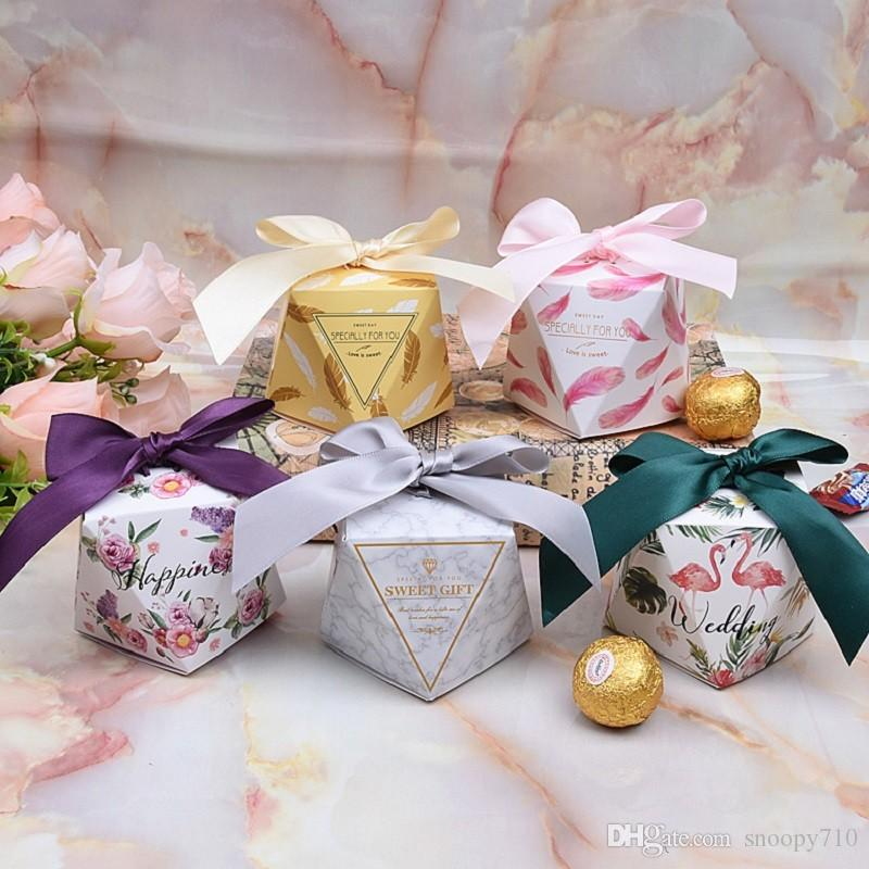 2019 Multicolor Wedding Favor Box And Bags Sweet Gift Candy Boxes