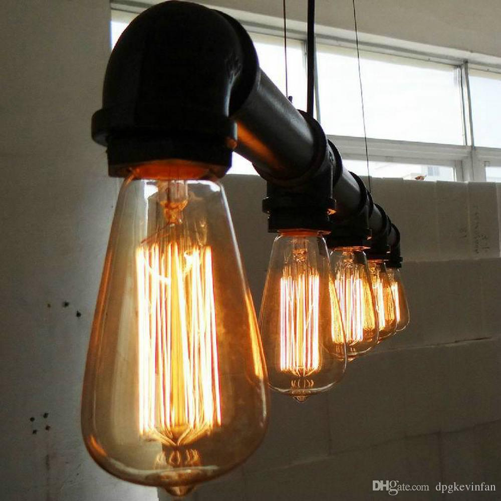 Deckenlampe Industrial Pendant Lights Artistic Five Heads Lights Retro Industrial Waterpipe Design Lamp E27 Lighting Living Room Dining Room Lights