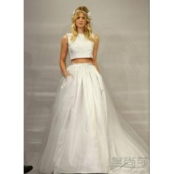 Smothery Discount Two Piece Wedding Dresses 2015 Runway A Line Bateau Sleeveless Length Tulle Lace Newest Designer Vestidos Bridal Party Gownswedding Discount Two Piece Wedding Dresses 2015 Runway A L