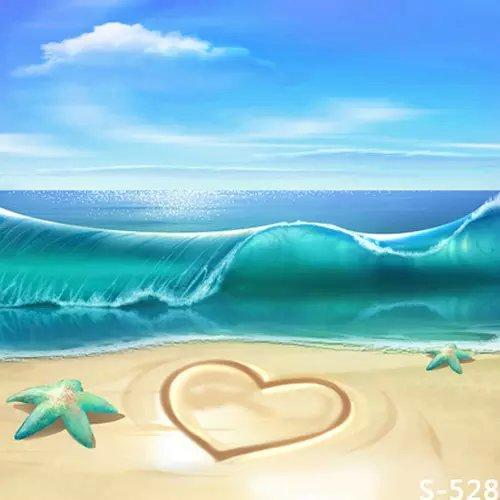 2018 5x7ft Blue Ocean Waves Nature Photography Backdrops For Photos