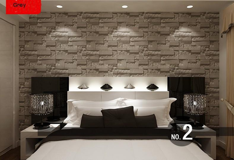 Cheap 3d Brick Wallpaper Modern Stacked Brick 3d Stone Wallpaper Roll Grey Brick