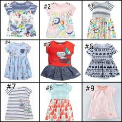 Pool 2017 Dresses Short Sleeve Summer Striped Cartoon Types Dress Floral Printed A Line Outwear Children 2017 Dresses Short Sleeve Summer Striped Cartoon