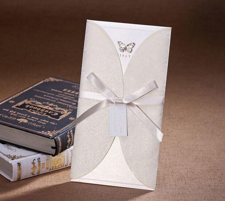 Laser Cut Wedding Invitations Floral Pack Square Envelopes Inner