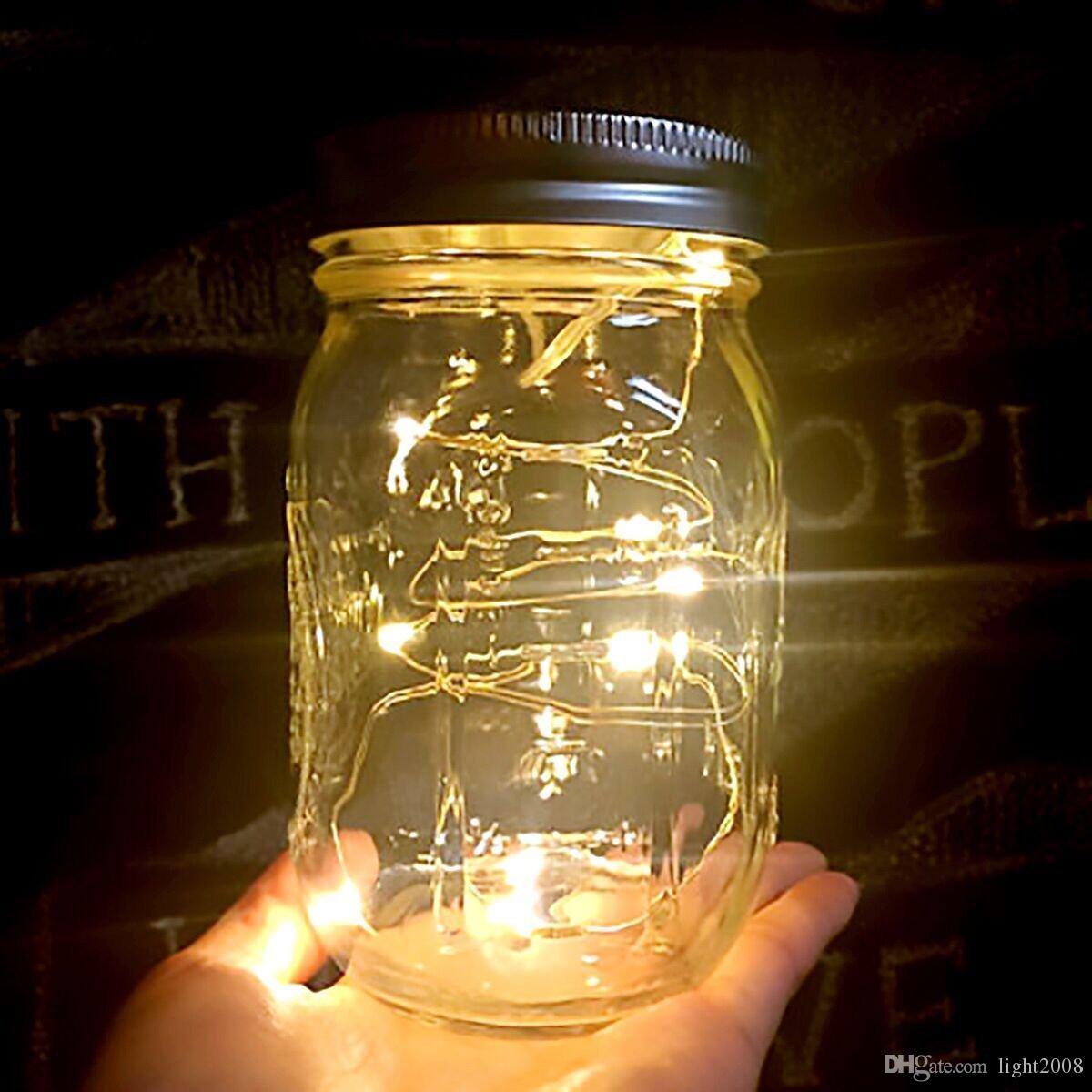 Solar Lights Australia Solar Powered Led Mason Jars Light Up Lid 10 Led String Fairy Star Lights Screw On Silver Lids For Mason Glass Jars Christmas Garden Lights